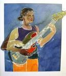 This was an occasion when I wanted to show the musicians' movement by painting her right arm in two positions.