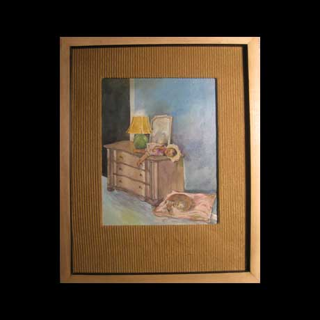 Commissions a room mural or theme paintings that can be mounted in a specific room.