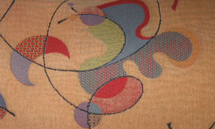 my Miro inspired bed cover