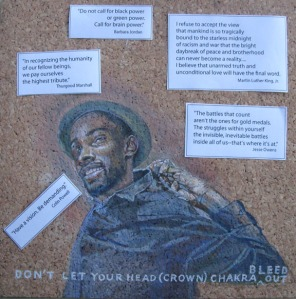 bulletin board for Black Lives and Art Matter