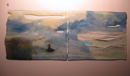 glass paint on fused glass